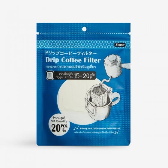 Drip Coffee Filter กระดาษกรองกาแฟดริปชนิดหูเกี่ยว ไซส์ใหญ่ 15-20 กรัม